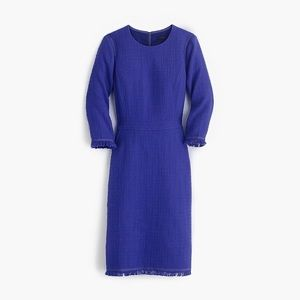Blue Tweed Dress J. Crew
